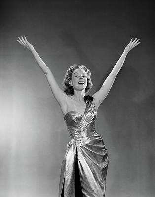 Bare Shoulder Photograph - 1950s Woman Singer Entertainer by Vintage Images