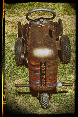 Photograph - 1950s Yard Hand Tractor by Mary Lee Dereske