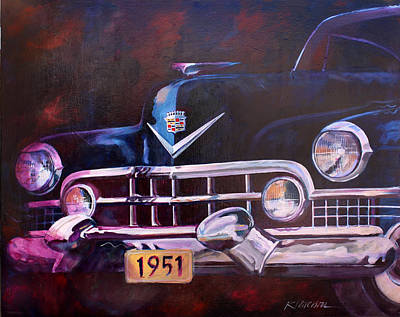 1951 Cadillac Art Print by Ron Patterson