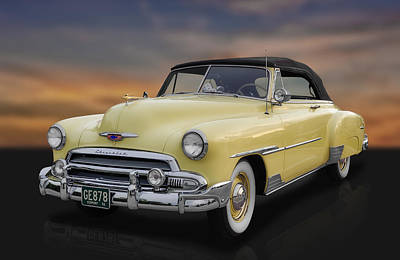 Custom Chevrolet Deluxe Photograph - 1951 Chevrolet Deluxe Convertible by Frank J Benz