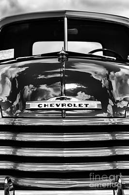 Street Car Photograph - 1951 Chevrolet Pickup Monochrome by Tim Gainey
