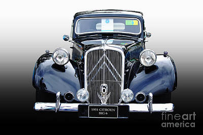 Photograph - 1951 Citroen Big 6 by Kaye Menner