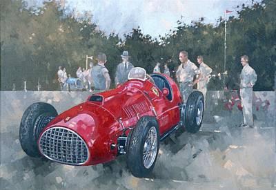 1951 Ferrari Oil On Canvas Art Print