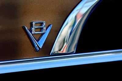 1951 Photograph - 1951 Ford Crestliner V8 Emblem by Jill Reger
