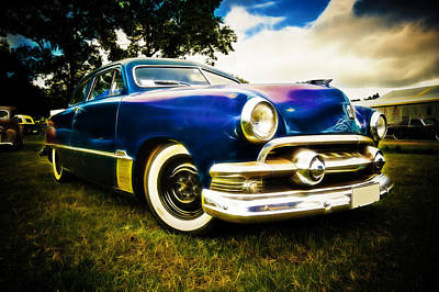 Ford Custom V8 Photograph - 1951 Ford Custom by Phil 'motography' Clark