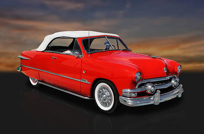 Street Rod Photograph - 1951 Ford Custom V8 Convertible by Frank J Benz