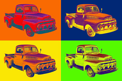 1951 Ford F-1 Pickup Truck Pop Art Art Print by Keith Webber Jr