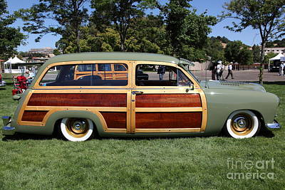 Old Woody Station Wagon Wall Art - Photograph - 1951 Ford Woody Stationwagon 5d22792 by Wingsdomain Art and Photography