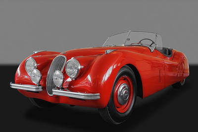 Photograph - 1951 Jaguar Xk-120 Roadster by Frank J Benz