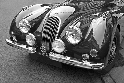 Photograph - 1951 Jaguar Xk120 In Black And White by Gill Billington