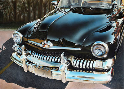 Classic Car Painting - 1951 Mercury by Bill Yurcich