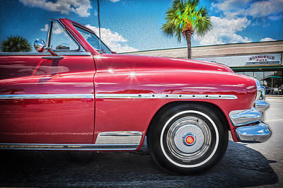 50 Merc Photograph - 1951 Mercury Convertible Painted   by Rich Franco