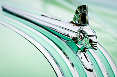1951 Pontiac Streamliner Hood Ornament 2 Art Print by Jill Reger