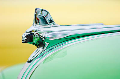 Streamliner Photograph - 1951 Pontiac Streamliner Hood Ornament by Jill Reger