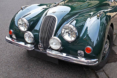 Photograph - 1951 Racing Green Jaguar Xk120 by Gill Billington