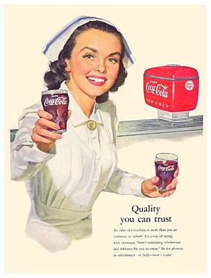 1952 - Coca-cola Advertisement - Color Art Print