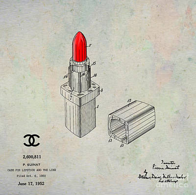 1952 Chanel Lipstick Case 1 Art Print