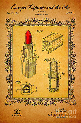 Lips Digital Art - 1952 Chanel Lipstick Case 3 by Nishanth Gopinathan