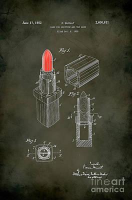 1952 Chanel Lipstick Case 5 Art Print