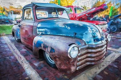 1952 Chevrolet 3100 Series Pick Up Rat Truck Painted  Art Print by Rich Franco