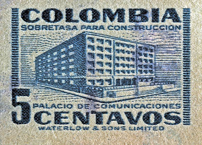 Photograph - 1952 Columbian Stamp by Bill Owen