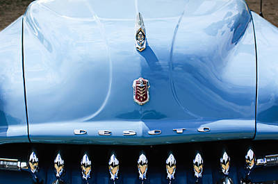 Photograph - 1952 Desoto Grille - Hood Ornament - Emblems by Jill Reger