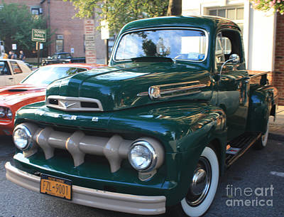Photograph - 1952  Ford Pick Up Truck Front And Side View by John Telfer