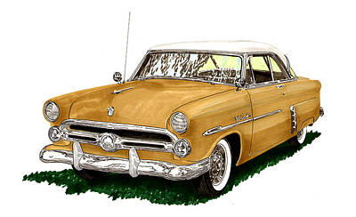 1952 Ford Victoria Art Print by Jack Pumphrey