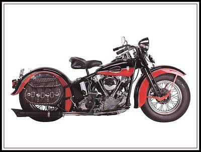 1952 Harley Davidson Art Print