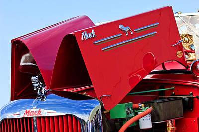 Photograph - 1952 L Model Mack Pumper Fire Truck Engine by Jill Reger