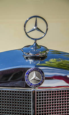 Photograph - 1952 Mercedes Grill Ornament by Roger Mullenhour