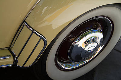 Photograph - 1952 Mercedes Rear Fender And Wheel by Roger Mullenhour