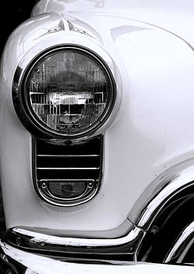 Photograph - 1952 Olds Headlight by Ron Roberts