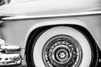 Photograph - 1952 Oldsmobile 98 Holiday Hardtop Wheel Emblem -1482bw by Jill Reger