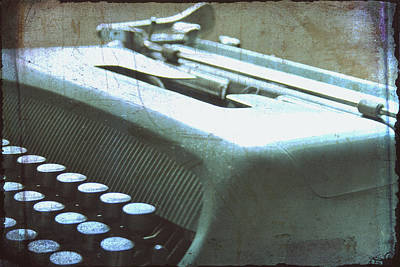 1952 Olivetti Typewriter Art Print by Georgia Fowler
