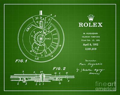 1952 Rolex Calendar Timepiece 2 Art Print