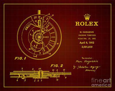 1952 Rolex Calendar Timepiece 3 Art Print