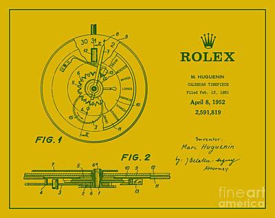 1952 Rolex Calendar Timepiece 5 Art Print