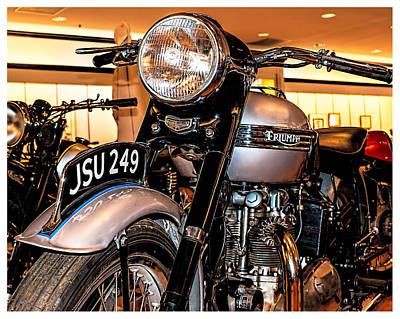 Photograph - 1952 Triumph Tiger 100 by Steve Benefiel