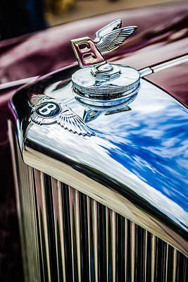 Photograph - 1953 Bentley R-type Hood Ornament - Emblem -0790c by Jill Reger