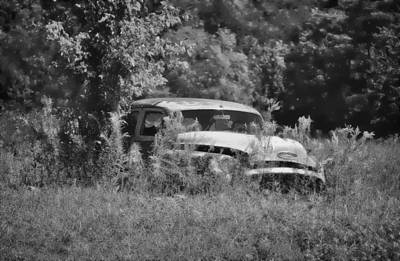 Photograph - 1953 Buick - Field Of Dreams 2 In B/w by Greg Jackson