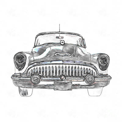 50s Photograph - 1953 Buick Roadmaster Fe by Edward Fielding