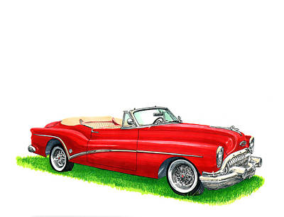 Painting - 1953 Buick Skylark Convertible by Jack Pumphrey