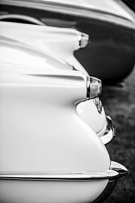 Photograph - 1953 Chevrolet Corvette Taillight -1406bw by Jill Reger