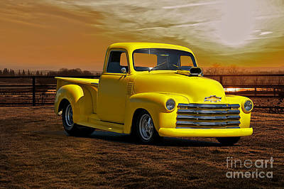 1953 Chevrolet Pick Up 'custom' Truck Print by Dave Koontz