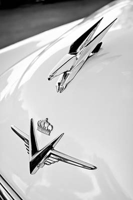 Photograph - 1953 Chrysler Imperial Custom Emblem - Hood Ornament by Jill Reger