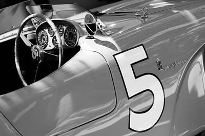Black Spider Photograph - 1953 Ferrari 375 Mm Spider by Jill Reger