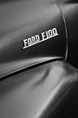 Old Ford Truck Wall Art - Photograph - 1953 Ford F-100 Pickup Truck Emblem by Jill Reger