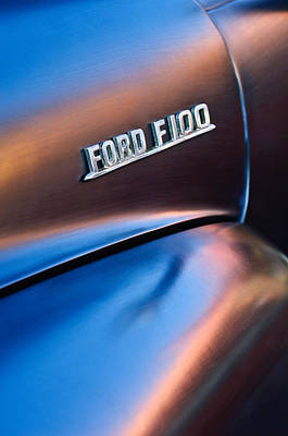 Photograph - 1953 Ford F100 Pickup Truck Emblem by Jill Reger