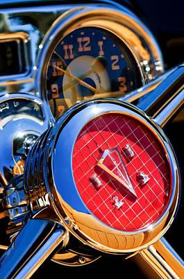 Photograph - 1953 Hudson Convertible Steering Wheel -2704c2 by Jill Reger